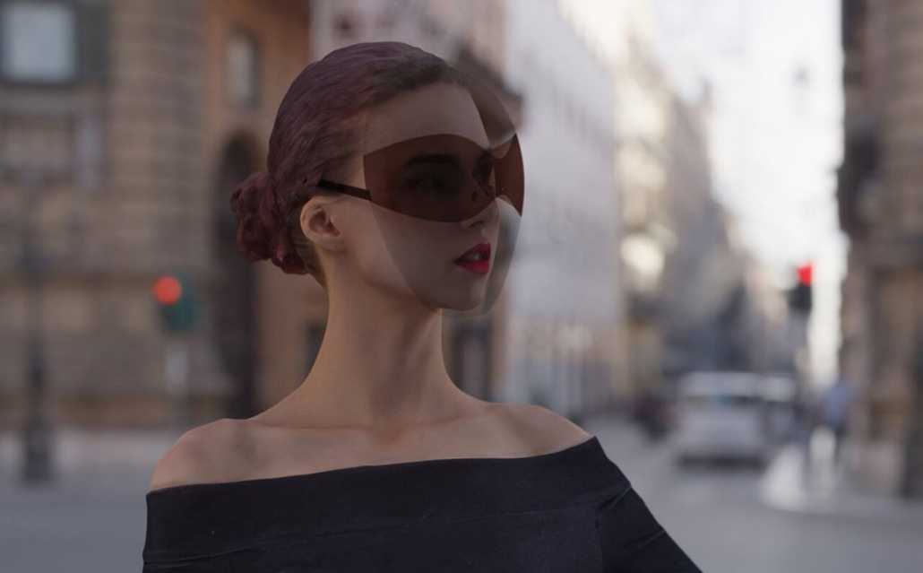 Fashion Trends-Covid-19 and dress code etiquette-Woman with mask