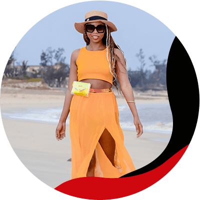 Fashion Trends- Creatw the best outfits with the best colors for brown skin- Orange