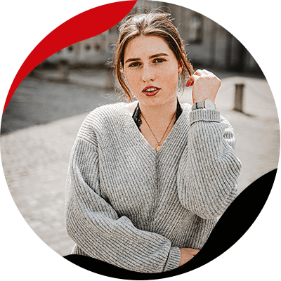 Fashion Trends- Look 10 years younger with te right clothes- woman with a sweater
