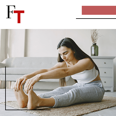 fashion trends - woman stretching out her legs and arms