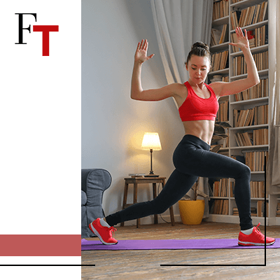 fashion trends - Proper clothes to exercise at home - woman working out in her living room
