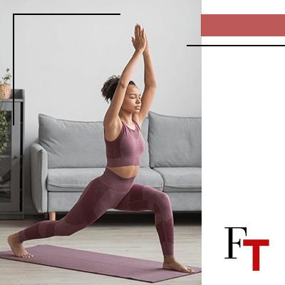 Fashion trends - woman doing yoga