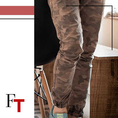 Fashion Trends and Style - military look - jeans