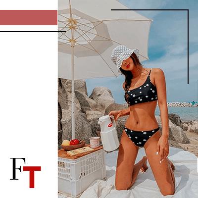 Fashion Trends and Style . Bikinis - asymmetrical - Cassidie - Asymmetrical Floral Print Bikini