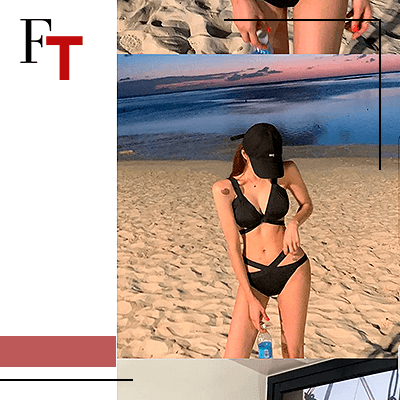 Fashion Trends and Style - Bikinis - cut out swimsuits - Vinroll - Set: Strappy Bikini Top + Bottom