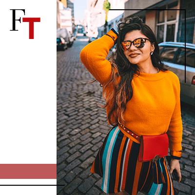 Fashion Trends - woman wearing an orange shirt