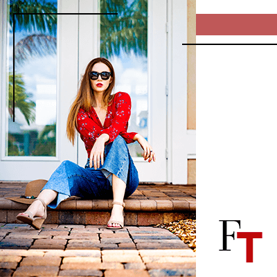 Fashion Trends - woman wearing a red blouse