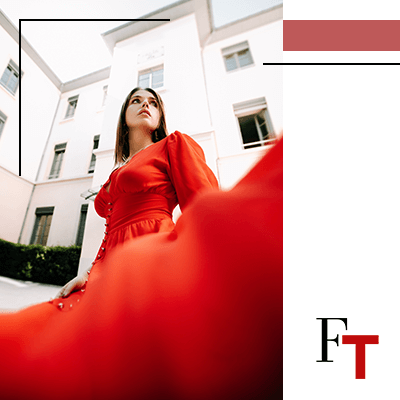 Fashion Trends - woman wearing a red dress