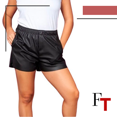 FhionTrends and Style - leather shorts - informal look