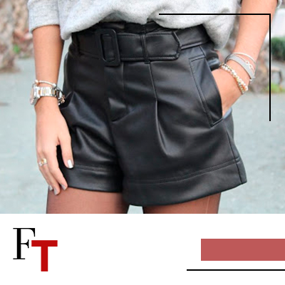 FhionTrends and Style - leather shorts - Short