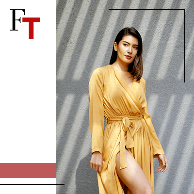 Fashion Trends and Style - Draped - Yellow dress