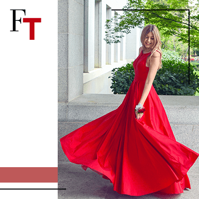 Fashion Trends and Style - Draped - red dress 2