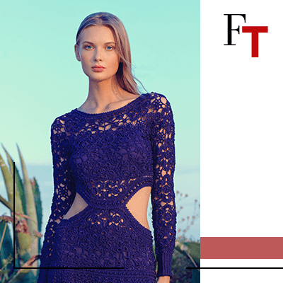 Fashion Trends - woman with a blue dress