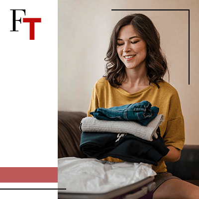 Fashion Trends - woman folding clothes