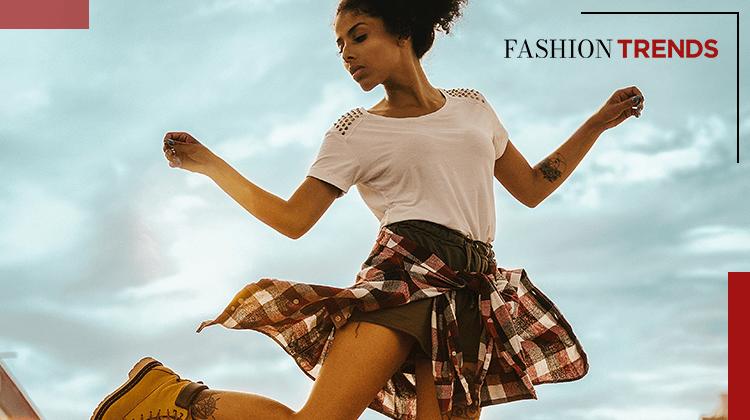 Fashion Trends and Style - shirt tied at the waist - banner